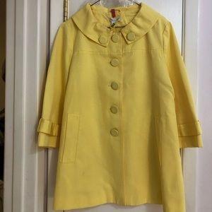 Sunshine Yellow 🌞 Mod Spring Coat 🌼